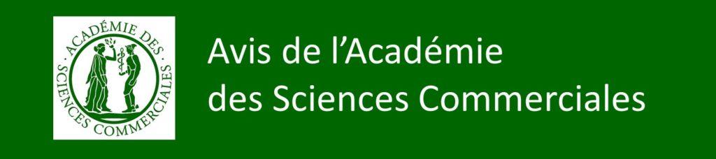 avis académie des sciences commerciales